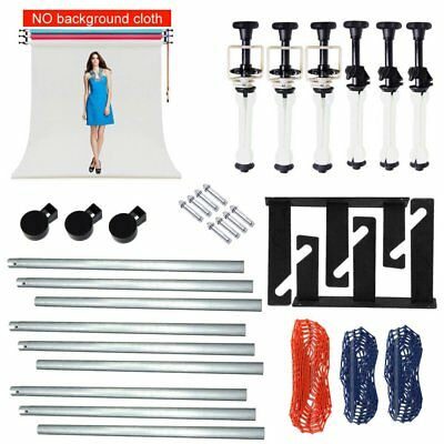 3 Roller Wall Ceiling Mount Manual Background Support System + 3X 3M Cross Bar