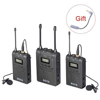BOYA BY-WM8 UHF Dual Channel Wireless Lavalier Microphone System for Interviews