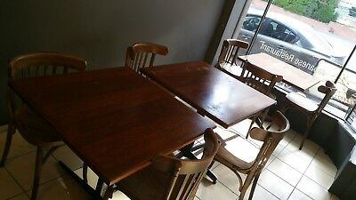 15X Restaurant Tables and Chairs Available timber