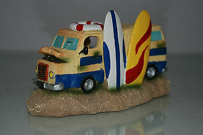 Aquarium Old Surfers Camper Van Decoration 19x8x11 cms Suitable for Aquariums