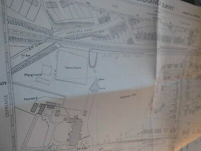 "Kent Planners Vintage Map 1950-73: Faversham Town South:best 50"" Scale,annotated"