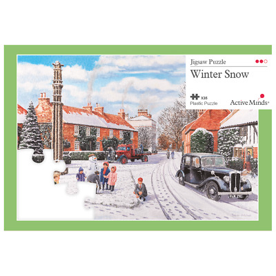 Large 35 Piece Dementia Puzzle / Activities by Active Minds Winter Snow jigsaw