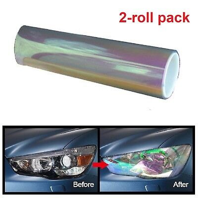 Chameleon Car Headlight Tint Transparent Gloss Vinyl Foglight Tint Wrap Adhesive