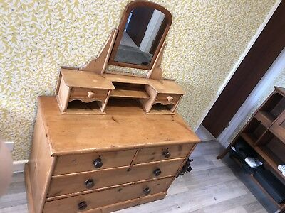 Beautiful Victorian Pine Dressing Table With Alterations