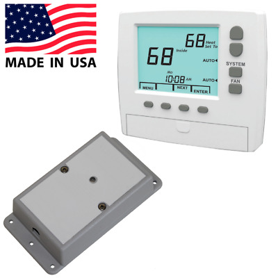 Wireless Thermostat Kit Universal 3-Heat / 2-Cool 7-Day Programmable Made in USA