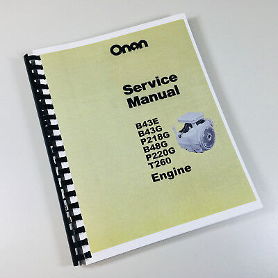 ONAN B43M / B48M Engine Service Shop Repair Manual - $16 33 | PicClick