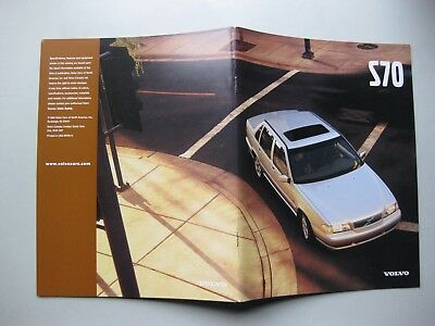 Volvo S70 incl. T5 T-5 prestige brochure Prospekt English text 1999 36 pages
