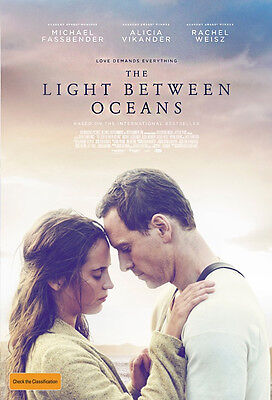 The Light Between Oceans (2016) Movie Flyer - Michael Fassbender, Rachel Weisz