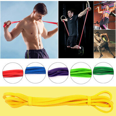 Elastic Latex Resistance Band Exercise Loop Home Gym Yoga Premium Fitness Bands