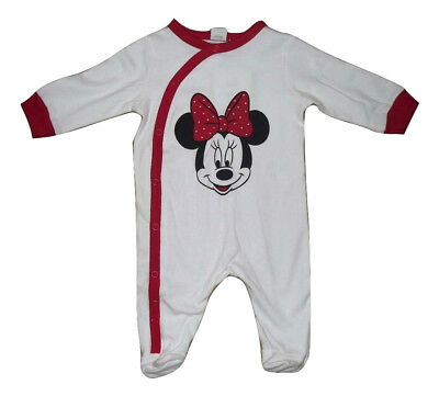 Babies Minnie Mouse Sleepsuit Babygrow  Tiny Baby Up To 24 Months 100% Cotton