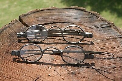 Antique 19C Coin Silver Spectacles by Vansande & Rogers  Eye Glasses Civil War