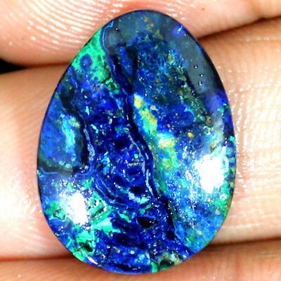 100% Natural Mexican AZURITE MALACHITE Fancy Cabochon Loose Gemstone 15.75 Cts