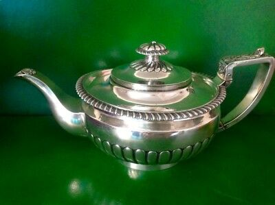 Superb Heavy Georgian Antique English Sterling Silver Teapot 1816