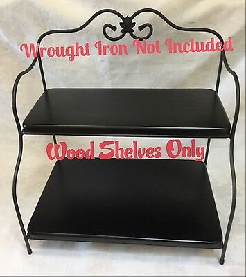 Custom Made Black Wood Shelves Only For The Longaberger Bakers Rack