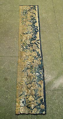 A Long Antique Tapestry Border With Flowers