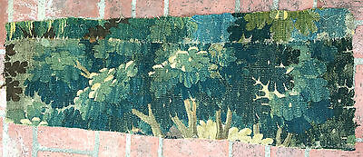 A Great Antique Verdure 18th Century Tapestry Fragment