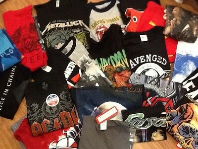 Wholesale Lot of 50 Rock, Band & Novelty T Shirts - Sz 2T-2XL - All New