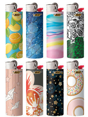 BIC Special Edition Fashion Series Lighters, Set of 8 Lighters