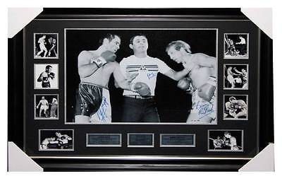 Canvas Print signed by Johnny Famechon ,  Barry Michael & Frank Ropis