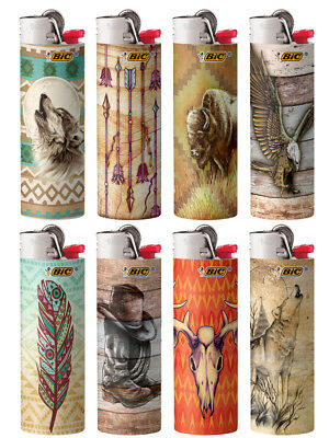 BIC Special Edition Southwestern Series Lighters, Set of 8 Lighters