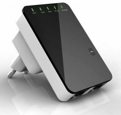 300Mbps Wireless-N Mini Router Wifi Repeater Extender Booster Amplifier DT