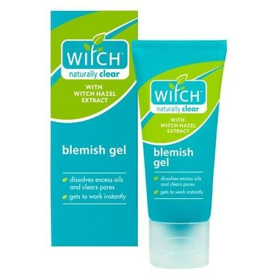 Witch Naturally Clear Blemish Gel 1x35ml Hazel/Skin/Care/Oil/Pores/Facial/UK/NEW