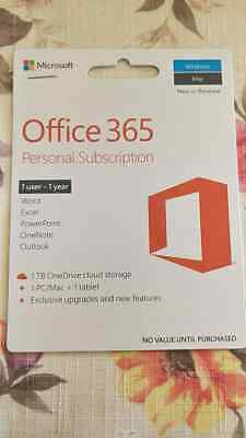 microsoft office 365 personal 1 year 1 User