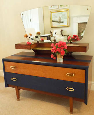 Upcycled 1960s Lebus dressing table painted Retro Furniture Mid Century Modern