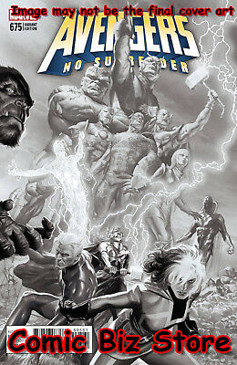 Avengers #675 (2018) 1St Printing Scarce 1:200 Alex Ross Variant Sketch Cover