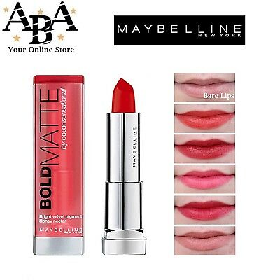 Maybelline Lipstick Bold Matte by coloursensational 5 shades to choose from