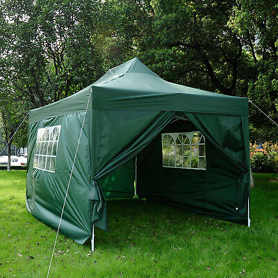 Summer Clearance 10x15ft Marquee Pavilion Pop up Party Tent Portable Green