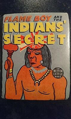 Big Little Book Western #1464 Flame Boy and the Indian's Secret (Whitman1938) VF