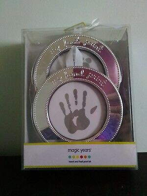 Baby Hand print and Footprint Photo Frame Kit - 2 frames
