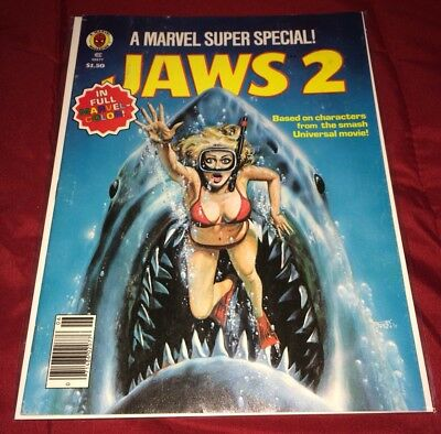 Marvel Super Special 6 Fine! Jaws! Kiss Back Cover As! FREE US SHIPPING!