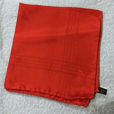 Red Pocket Square ITALIAN SILK with ROLLED EDGES Mens Jacket Handkerchief Hank