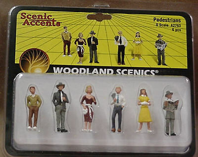 O scale Railroad PEDESTRIANS Woodland Scenics Train People # 2763