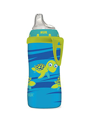 Silicone Nuk Blue Turtle Spout Active Sippy Cup BPA Lead Latex Phthalate Free