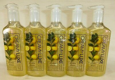 5 Kitchen Lemon Creamy Luxe Hand Soap Bath & Body Works 8 Oz