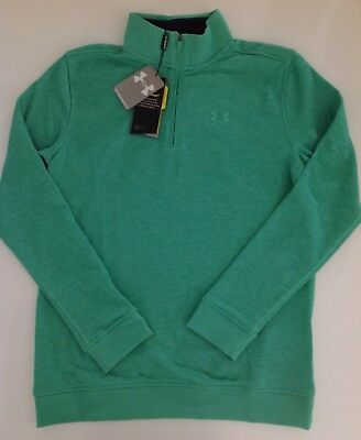 Under Armour Boys Golf 1/4 Zip Up Storm1 Pullover 1289158 Green Youth M XL
