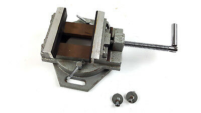 Hydraulic Pressure Mill Milling Vise Jaws with Swivel Base Used Free Shipping