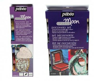 Pebeo Fantasy Moon Discovery Paint Set (6x20ml or 12x20ml)