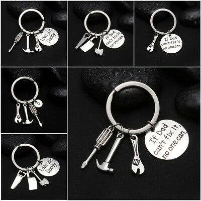 If Dad Can't Fix It,No One Can Tool Hammer Key Chain Fathers Day Gift Keyrings