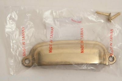 """Vintage Style 3 3/8"""" Brass Bin Pull Drawer Pull Hardware Industrial Nwt"""