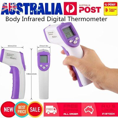 Non-Contact Body Infrared Digital Thermometer Instant Reading LCD Display CU