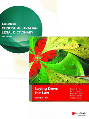 Laying Down The Law 10th + Concise Australian Legal Dictionary 5th (Value Pack)
