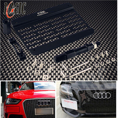 For 09-16 Audi A4 S4 B8 Front Bumper Tow Hook License Plate Mount Bracket