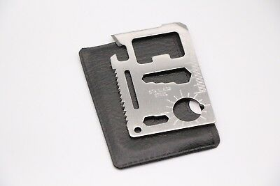 Multi Tool 11in1 Hunting Survival Camping Pocket Military Credit Card key Knife