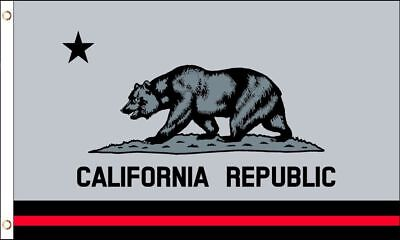 d9e29b9b 3X5 GREY AND Black California Flag State Republic CA Outdoor Garden ...