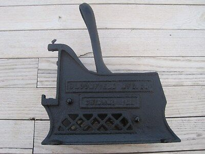 Vintage Antique Bloomfield Mfg. Cast Iron French Fry Cutter Chicago Il