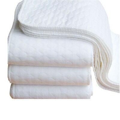 Casual New 2pcs Infant White Ecological Cotton Baby Cloth Diapers Washable Nappy